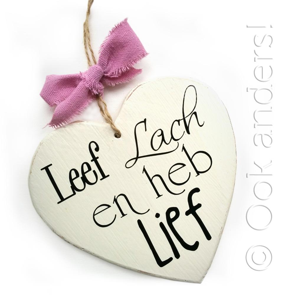 Kleine hartjes met dubbele tekst - OokAnders.nl