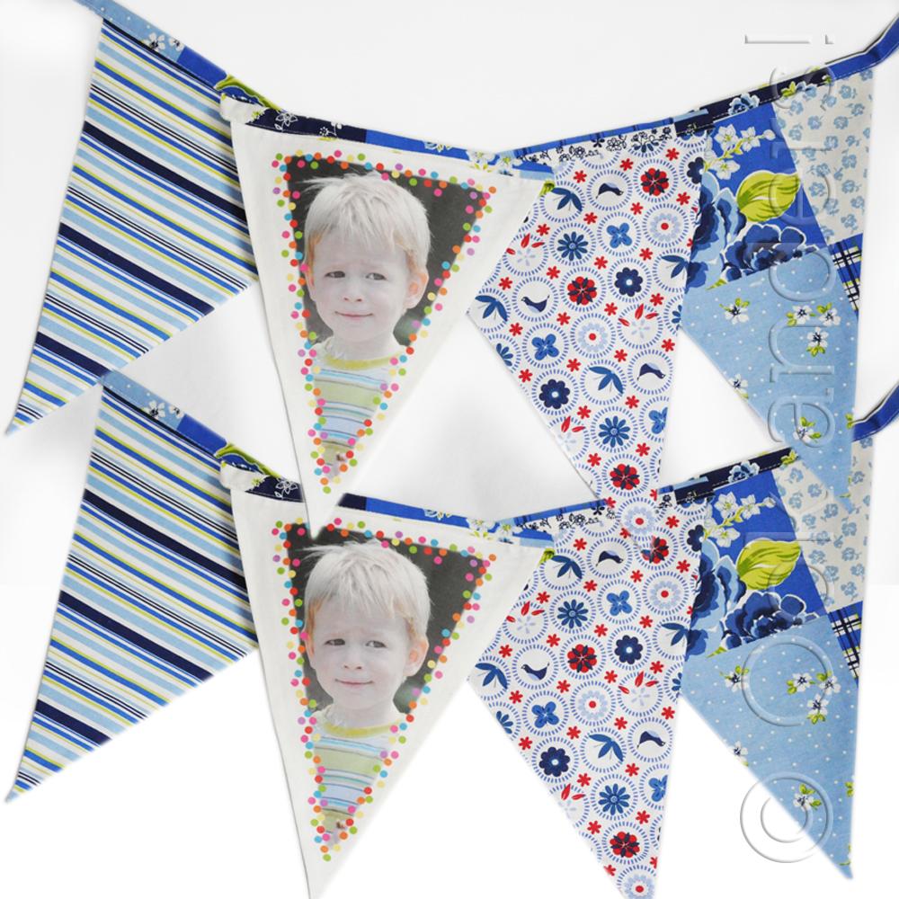 Stoffen vlaggenlijn Blauw