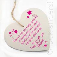 Tekstbord Moederdag hart