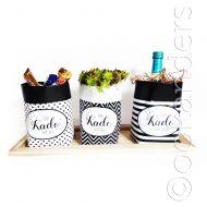 Paperbag zwart wit patroon sett