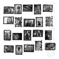 Fotolijst stickers (9 stuks)